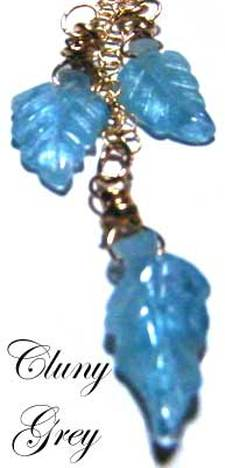 aquamarine necklace with gold