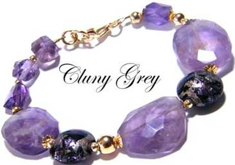 amethyst bracelet with gold